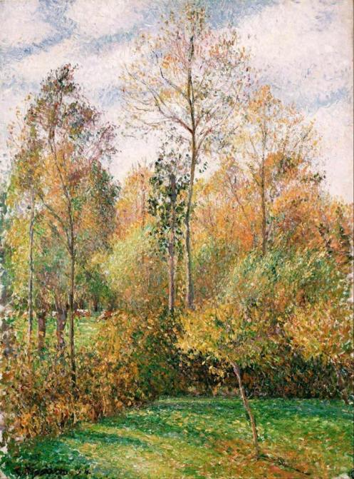 Camille Pissarro (French, 1830-1903)_Autumn, Poplars 1893
