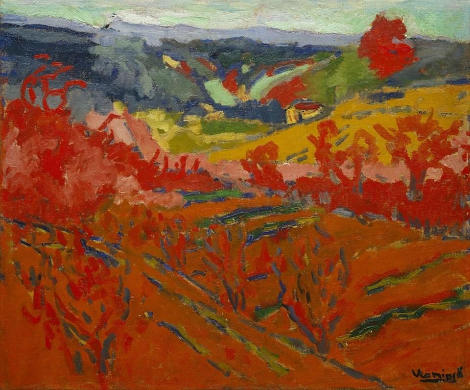 Maurice de Vlaminck (French, 1876–1958)_Autumn Landscape ca. 1905