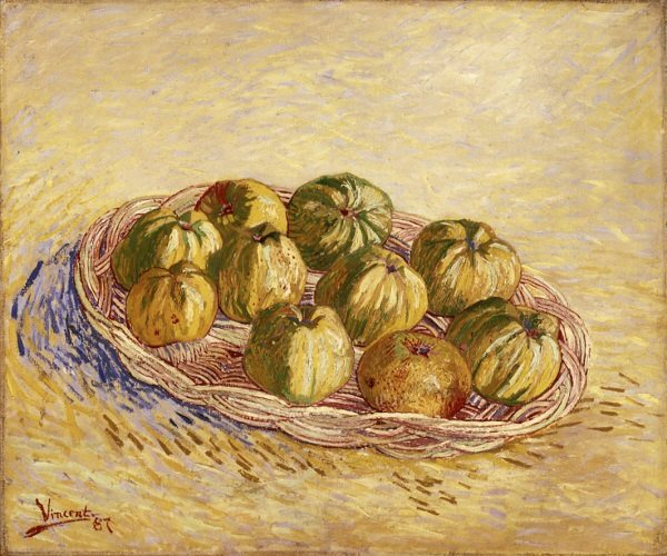 Van Gogh, Still Life with Basket of Apples, Autumn 1887. Oil on canvas, 50 x 61 cm. Kröller-Müller Museum, Otterlo.jpg