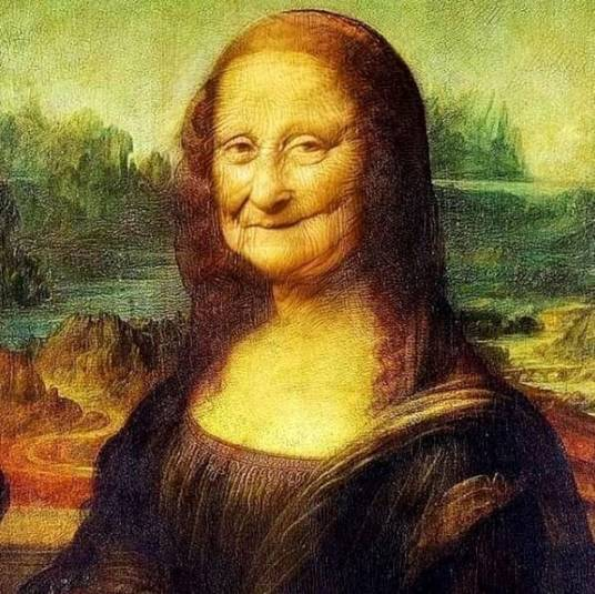 Mona Lisa in 1580 - using FaceApp