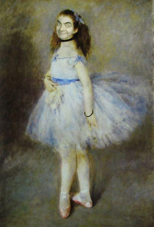Rowan Atkinson (Mr. Bean) in role of Degas' dancer