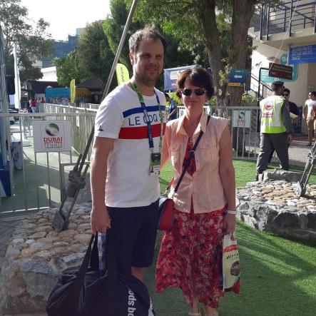 With Severin Lüthi, coach of Roger Federer