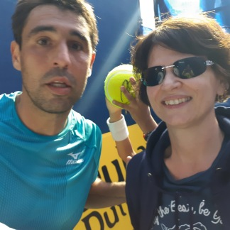 With Marcos Baghdatis