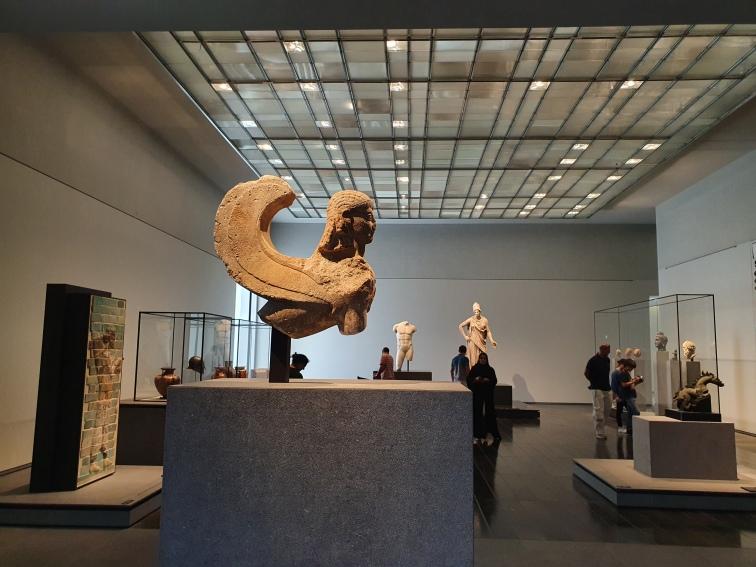 Sphinx, 600-500 BCE, limestone, height 57 cm