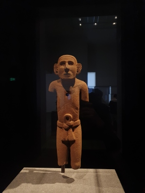 Statue of a young man, 1325-1521, Mexican, volcanic stone, height 65 cm