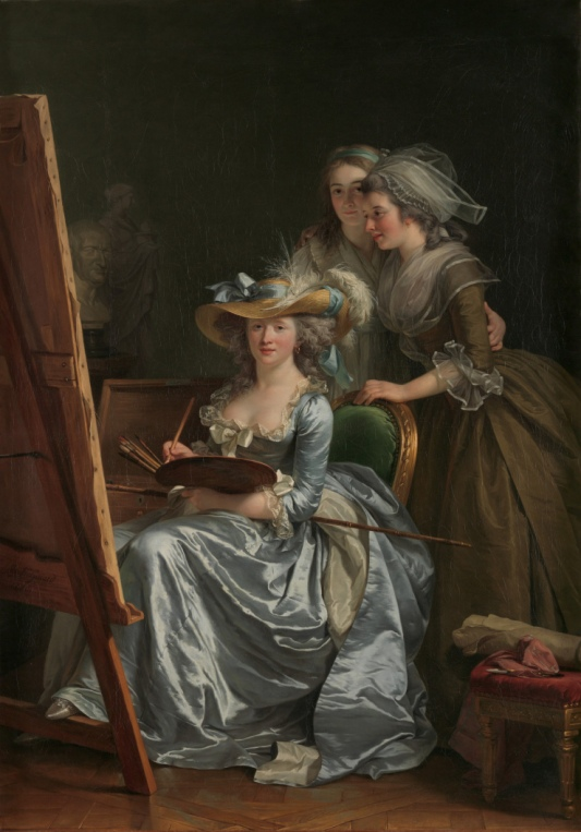 Adela Øde Labille-Guiard's Self-Portrait with Two Pupils