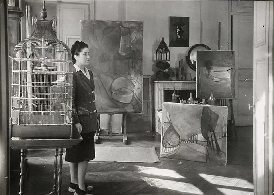 Dora Maar in her Studio in Paris 1946 - Photo by Brassai