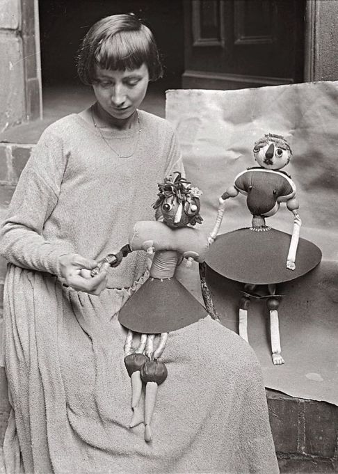 Hannah Höch with her Dada puppets, ca. 1920 - Photography by Willy Römer