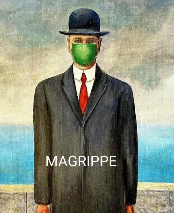 Magritte updated at the time of the coronavirus