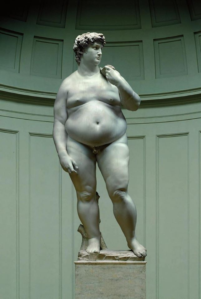 Michelangelo's David after the quarantine's time