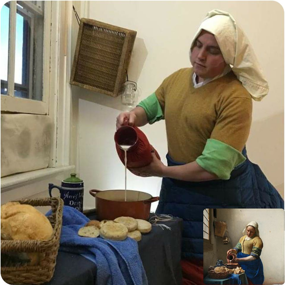 Vermeer's Milkmaid by Covid Classics