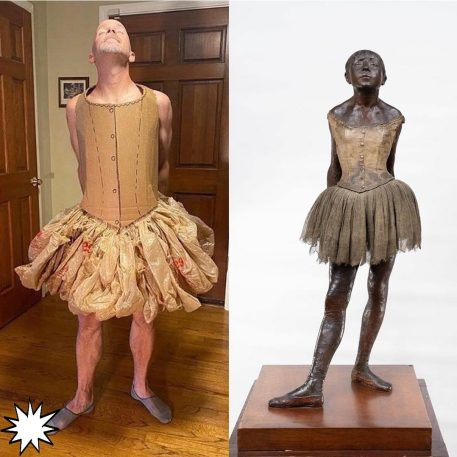 Creative quarantine with Degas' Little Dancer