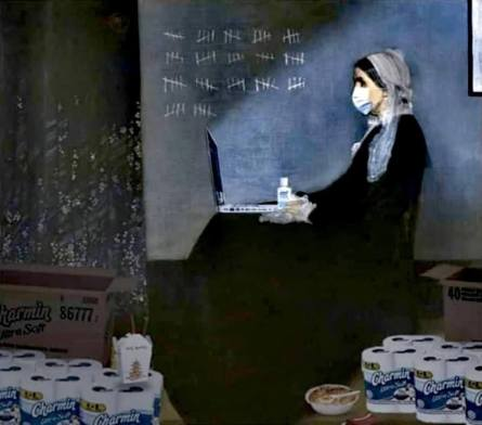 Whistler's Mother in the quarantine_original painting from 1871